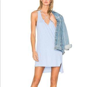 Revolve LNA Blue Cross Strap Tank Dress